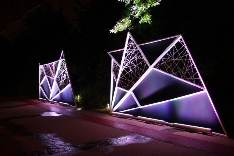 photo Scénographie Musée du Quai Branly - Les maîtres du désordre  geometrie