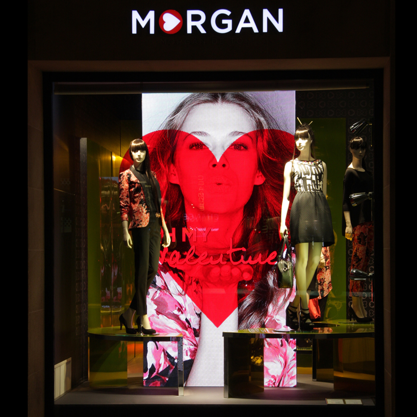 photo Vitrine Morgan - Saint Valentin 2014 exterieur
