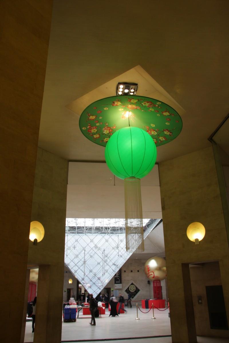 photo Scénographie Carrousel du Louvre Nouvel An Chinois vert