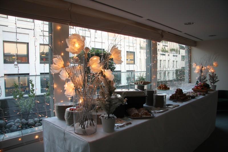 photo Scénographie Willkie Farr & Gallagher - Noël sur la banquise buffet