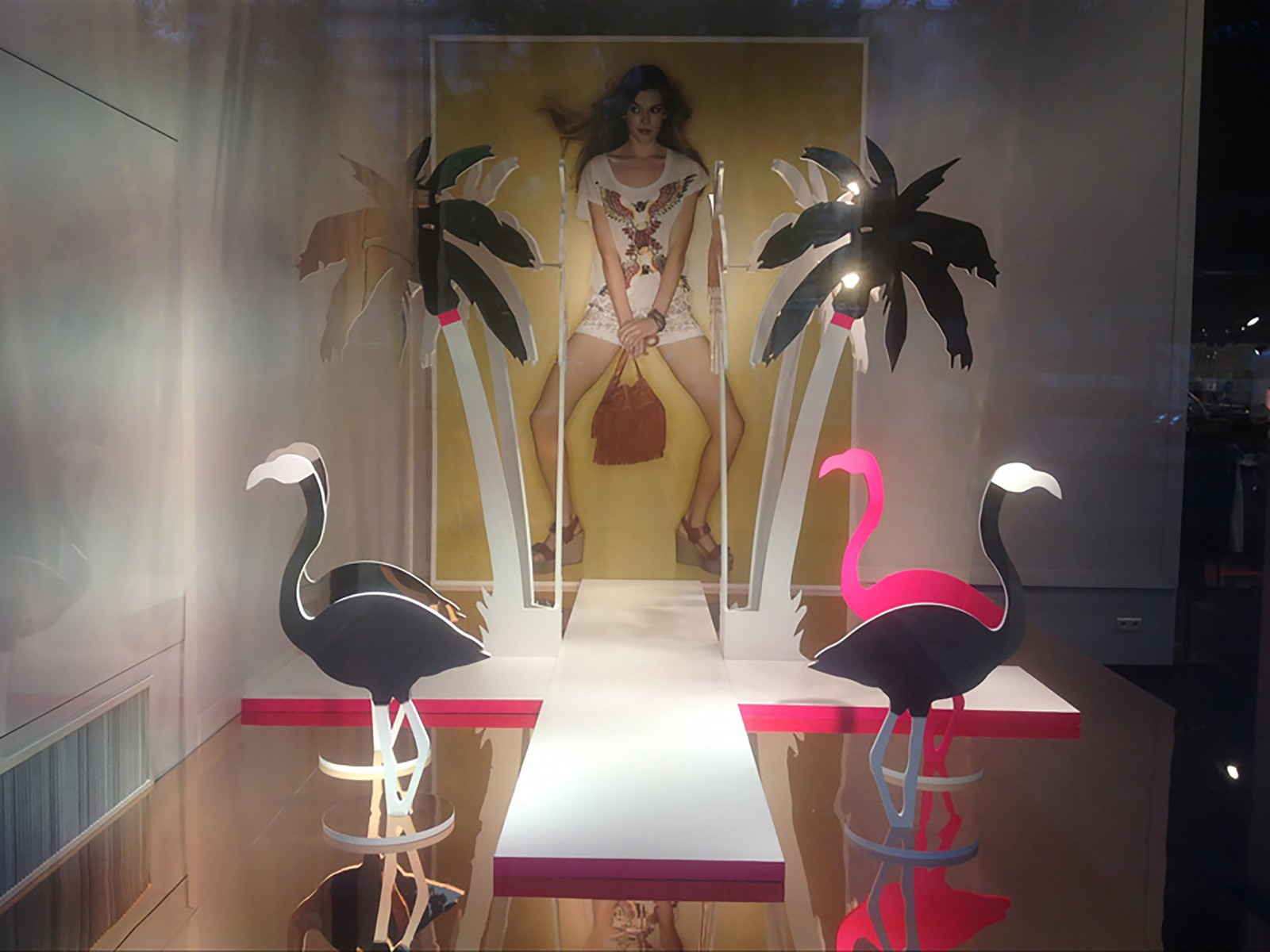 photo Vitrine Morgan - Pink Flamingo 2013 exotique